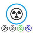radiation danger rounded icon vector image