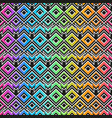 rainbow mosaic pattern with grunge effect vector image vector image