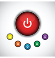red on button vector image vector image