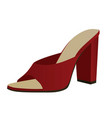 red woman sandal vector image vector image