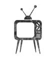 Retro tv set icon vector image
