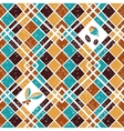 Seamless pattern Argyle and Coffee vector image vector image