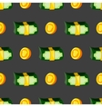 Seamless pattern with money vector image
