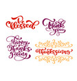 set of calligraphy phrases be blessed thank you vector image vector image