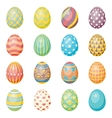 Set of sixteen eggs Easter collection vector image vector image