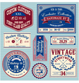 set of vintage labels for stylish clothes vector image