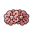 shadow brain cartoon vector image