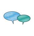 speech bubbles message communication chat vector image vector image