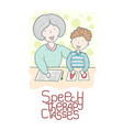 speech therapy concept friendly speech and vector image