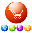 stylish shopping cart icons - buttons vector image