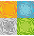 Sunburst background set vector image vector image