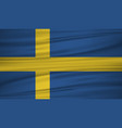 sweden flag flag of sweden blowig in the wind vector image