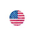 USA Flag Stars and Stripes Circle Low Polygon vector image vector image