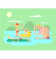Vacation family design flat vector image