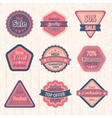 Vintage sale labels and badges set vector image