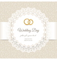 wedding beige lace vector image vector image