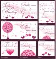 wedding reception card vector image vector image
