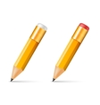 Yellow wooden sharp pencils vector image vector image