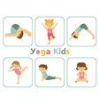 Yoga kids vector image vector image