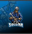 zombie army esport mascot logo design vector image