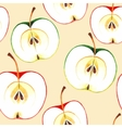 Seamless watercolor apples vector image