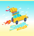 summer travel with a flying vector image