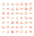 49 cargo icons vector image vector image