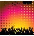 abstract background and crowd vector image vector image