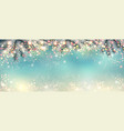 abstract holiday christmas light panorama vector image vector image
