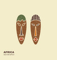 african masks icons for tribal designs vector image vector image