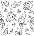 art of fruit hand draw doodles vector image