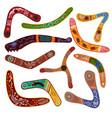 australian boomerang vector image vector image
