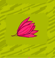 Big pink flower on green vector image vector image