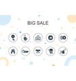 big sale trendy infographic template thin line vector image