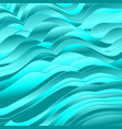 bright turquoise abstract wavy pattern design vector image vector image