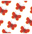 butterfly seamless pattern summer vector image vector image