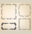calligraphic floral frames page decor vignette vector image vector image