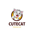 cat thumb up mascot character logo icon vector image vector image