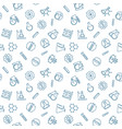 chemical seamless pattern in outline style vector image vector image
