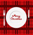 christmas dinner dinner time cutlery flat design vector image