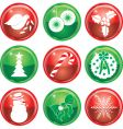 Christmas icon buttons vector image