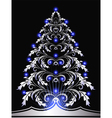 christmas silver furtree vector image