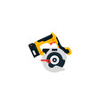 circular saw side view power tools for home vector image