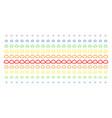 cloud shape halftone spectral array vector image vector image