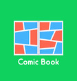 colored comic book on green background vector image vector image