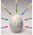 coloring easter eggs vector image