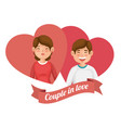 couple in love design vector image vector image
