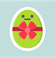 easter egg icon easter and spring flat sticker vector image vector image