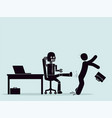 evolution of robots struggle for a place at work vector image vector image