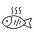 fish line icon food and animal seafood sign vector image vector image